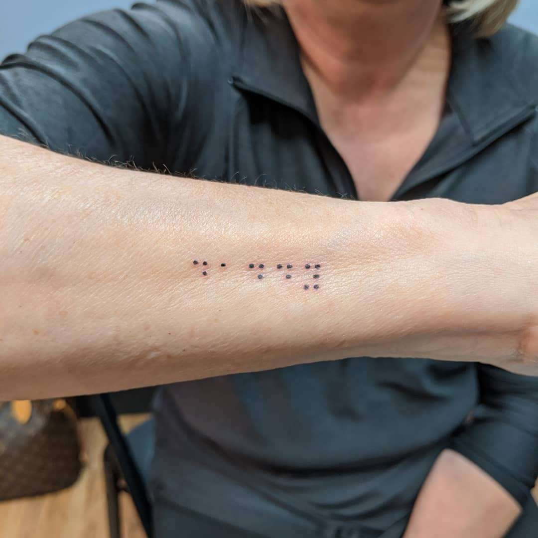 25 braille tattoos to celebrate national braille literacy month