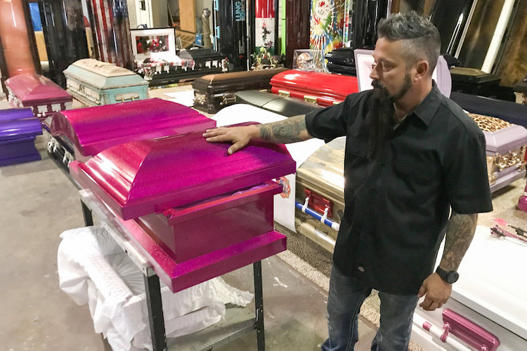 trey ganem: texas man responds to shooting the only way he can. the hot pink casket is for one of the youngest victims