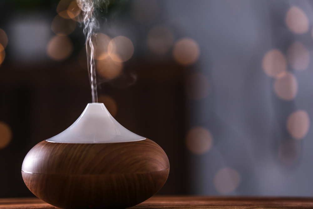 woman turns off oil diffuser and goes to bed. when she wakes up, she doesn't recognize herself