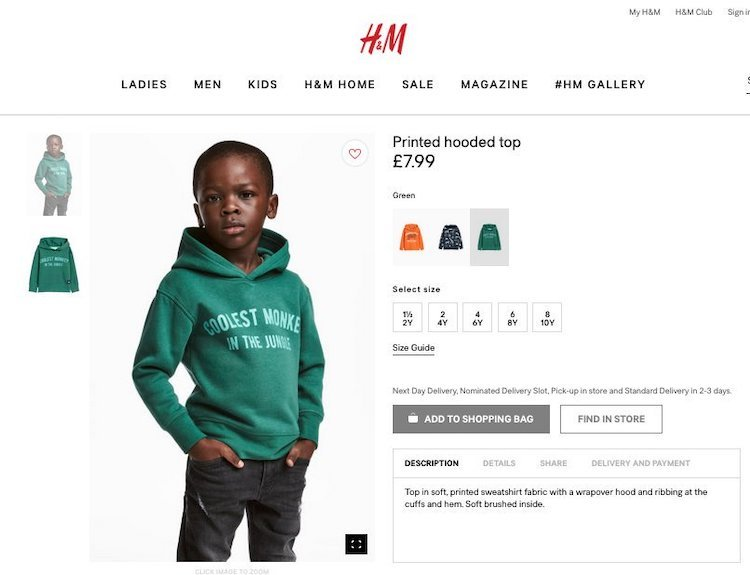 boy in 'racist' hm photo offered $1 million contract. but mom tells everyone to 'get over it.'