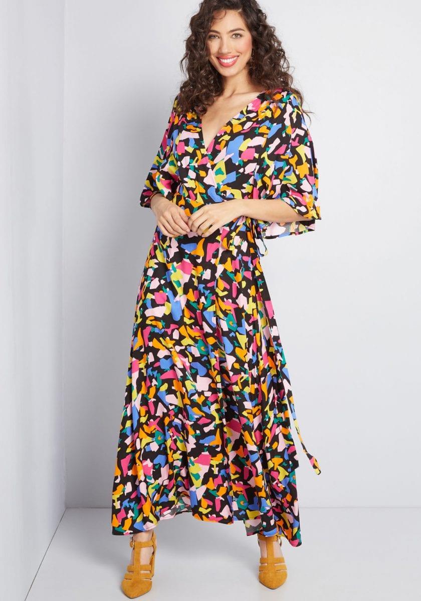 pumping at work: wrap dress