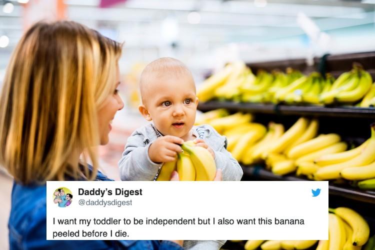 Funny Parenting Tweet Banana