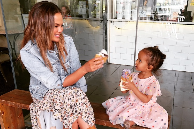 Chrissy Teigen Takes Luna to Candy Court