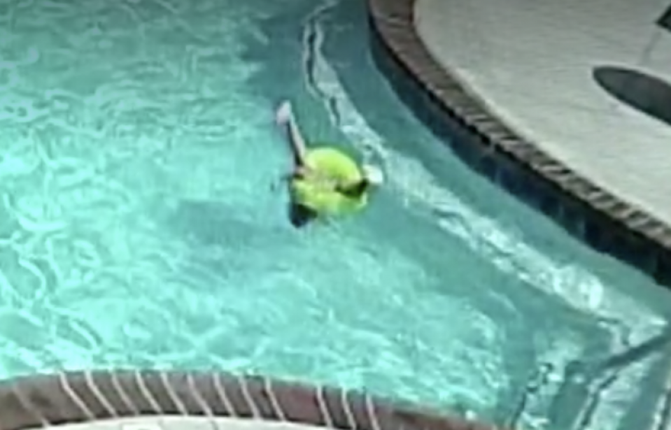 Shocking Video Shows 3-Year-Old Almost Drowning in Apartment Pool After Her Inner Tube Flips Over and Pins Her Under