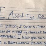 This Boy Wrote the Most Hilarious Note After He Missed His School Bus