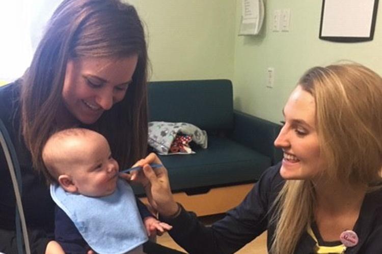 angela farnan: nurse adopts baby blaze
