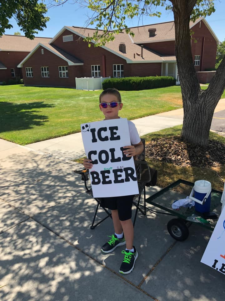police called after 11-year-old boy seen selling beer, but there's a funny twist in the fine print | little marketing genius!