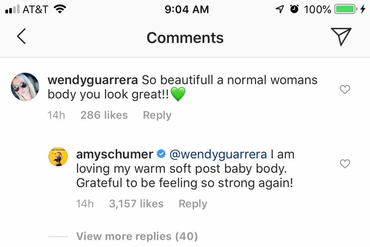 """bathing suit-clad amy schumer is loving her 'warm, soft' post-baby body   """"i am loving my warm soft post-baby body. grateful to be feeling so strong again!"""""""
