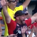 WATCH: This Dad Excitedly Lost His Mind After His Son Scored His First Home Run in Debut Professional Baseball Game