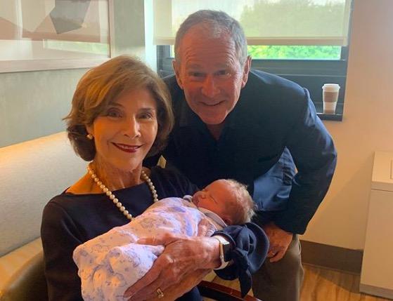 George W. Bush and Laura Bush.
