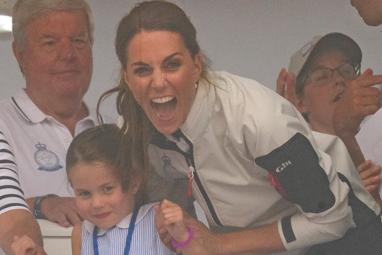 Princess Charlotte Stuck Her Tongue Out at Fans, Kate Middleton Reacted Like a Mom