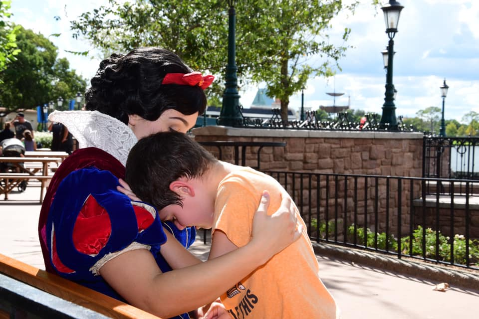 Snow white helps young boy with autism