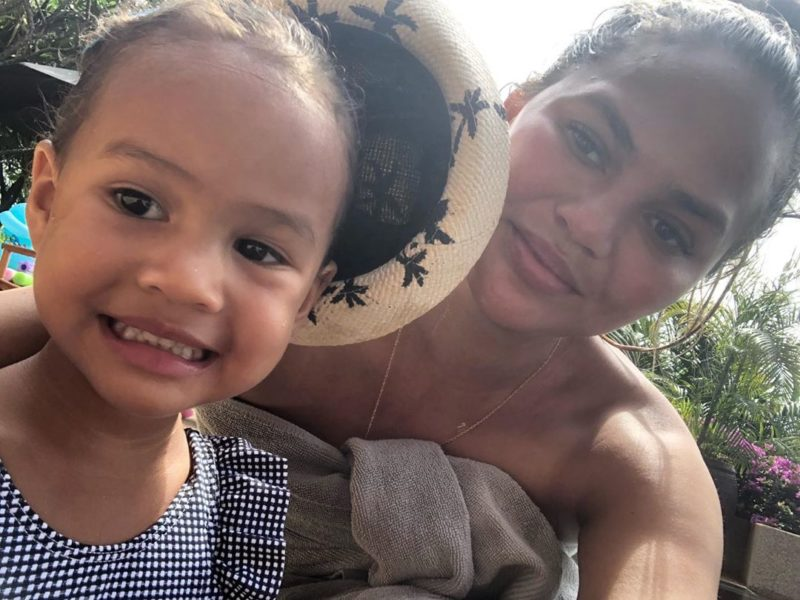 chrissy teigen jokes daughter is ready for sports illustrated cover