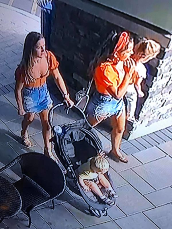 woman steals stroller, leaves child behind