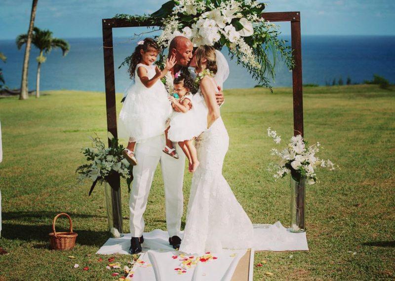 the rock marries longtime girlfriend