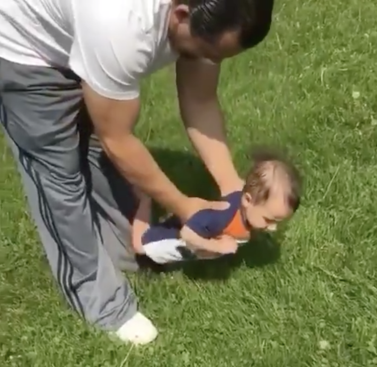 baby grass viral video