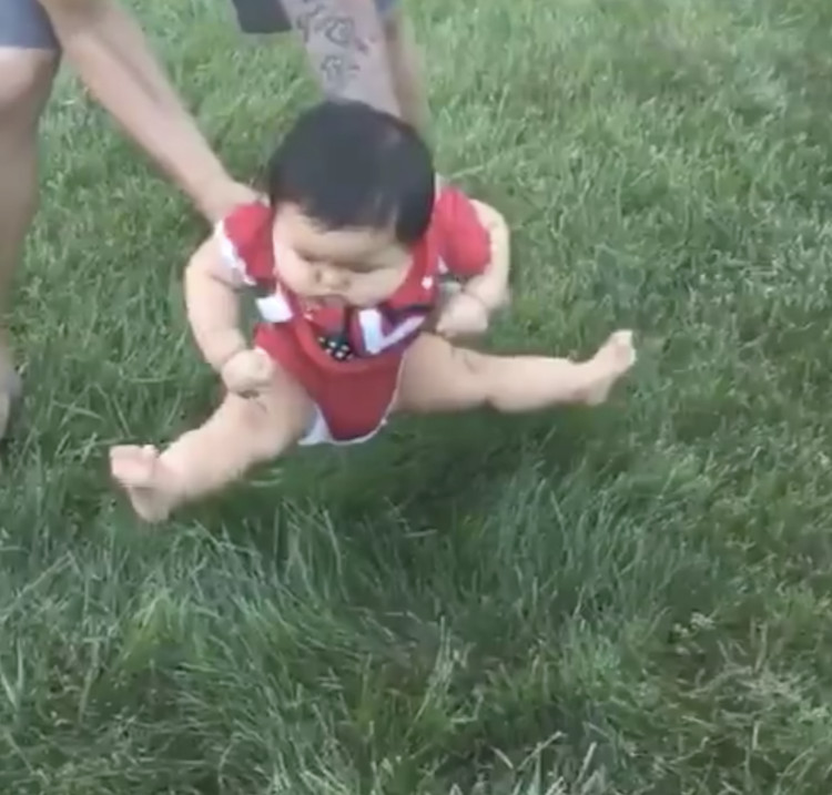 viral video: babies hate grass