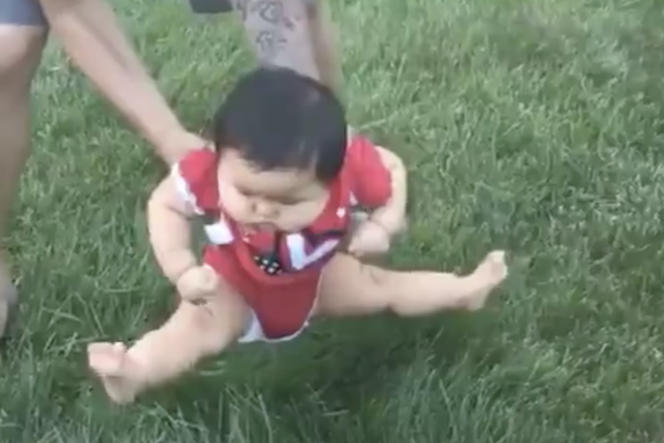 viral video proves babies hate grass