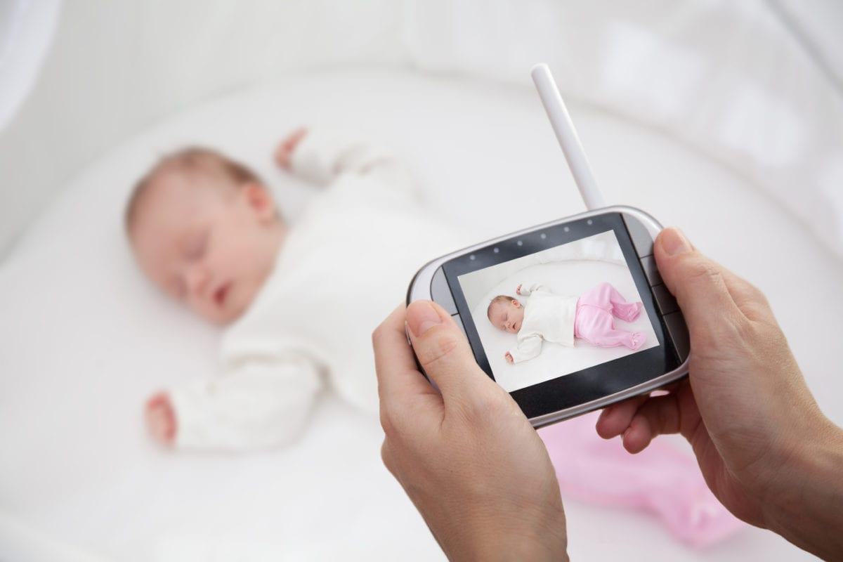 Baby and baby monitor