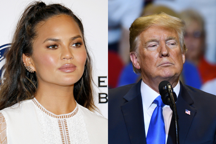 Chrissy Teigen Fights Twitter War with Donald Trump, Shares Luna's First Day of School Pics