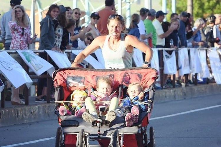 Cynthia Arnold: Mom Runs Marathon with Three Kids in a Stroller