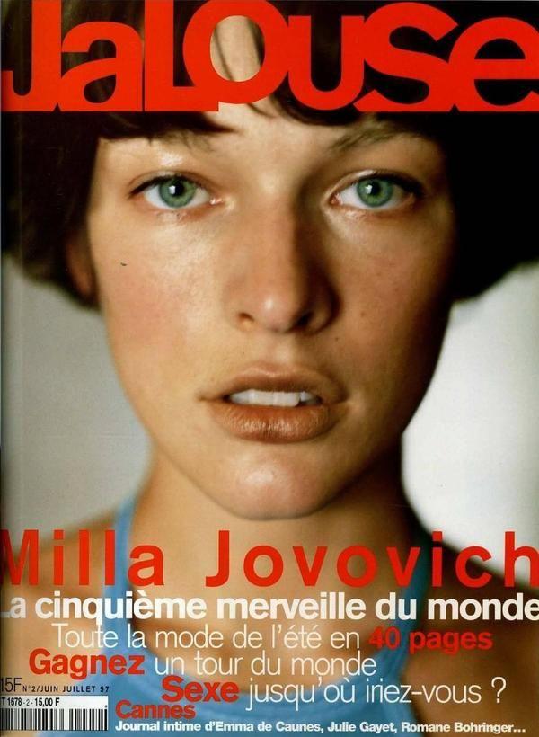 milla jovovich jalouse magazine cover