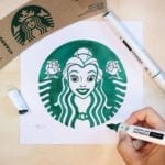Starbucks Mermaid Logo Reimagined as Beloved Disney Characters