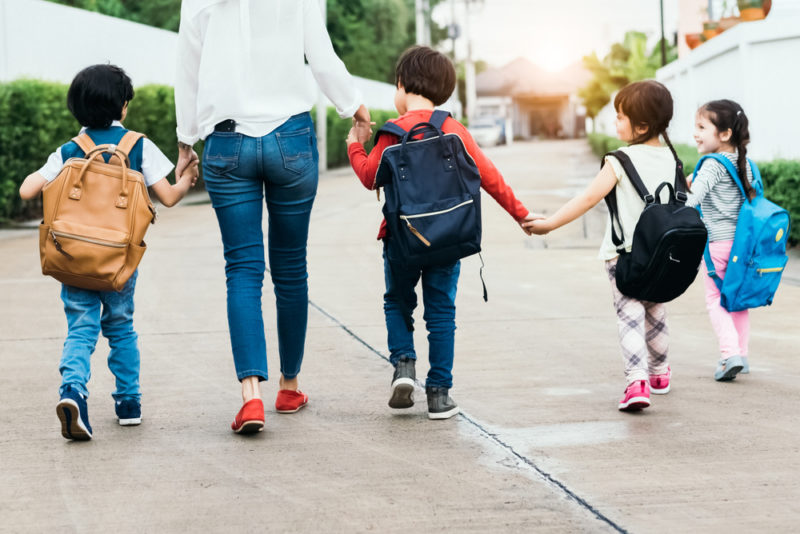 Moms with Four or More Kids Less Stressed than Others
