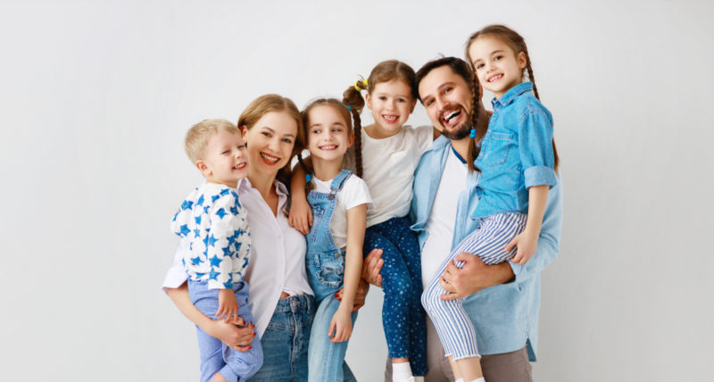 more children mean less stress