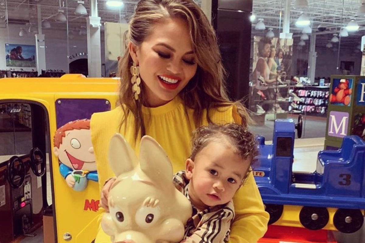 Fellow Moms Can't Get Over How Well Behaved Chrissy Teigen's Son Is While Getting His First Haircut