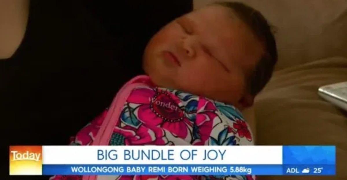newborn birth 13 pounds