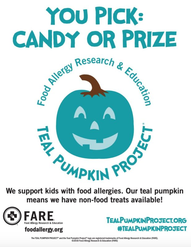 Teal pumpkin project is supported by the Food Allergy Research & Education group