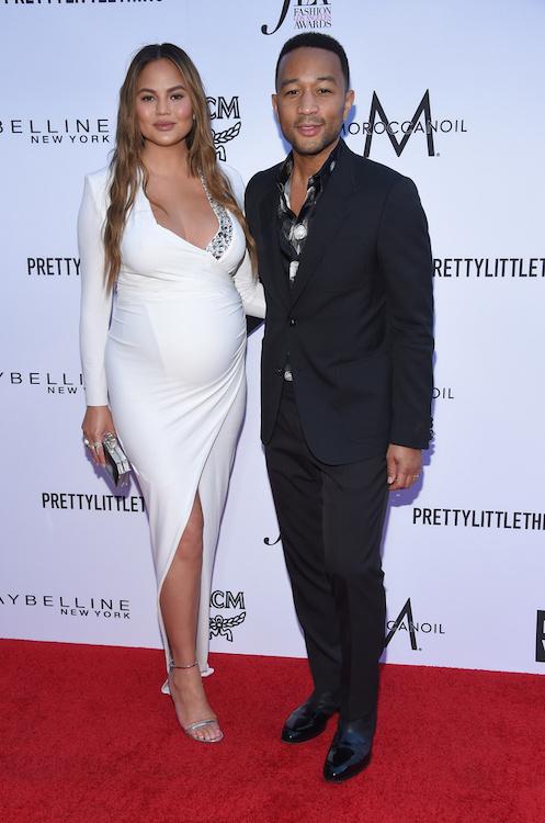 chrissy teigen 8 months pregnant with son miles