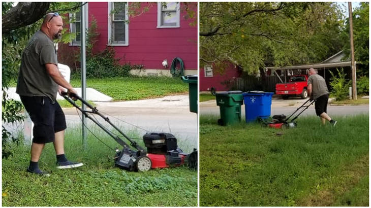Co Parenting Ex Husband Mows Lawn