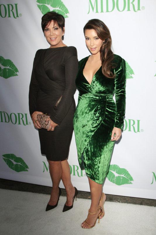 Kris Jenner Kim Kardashian Throwback