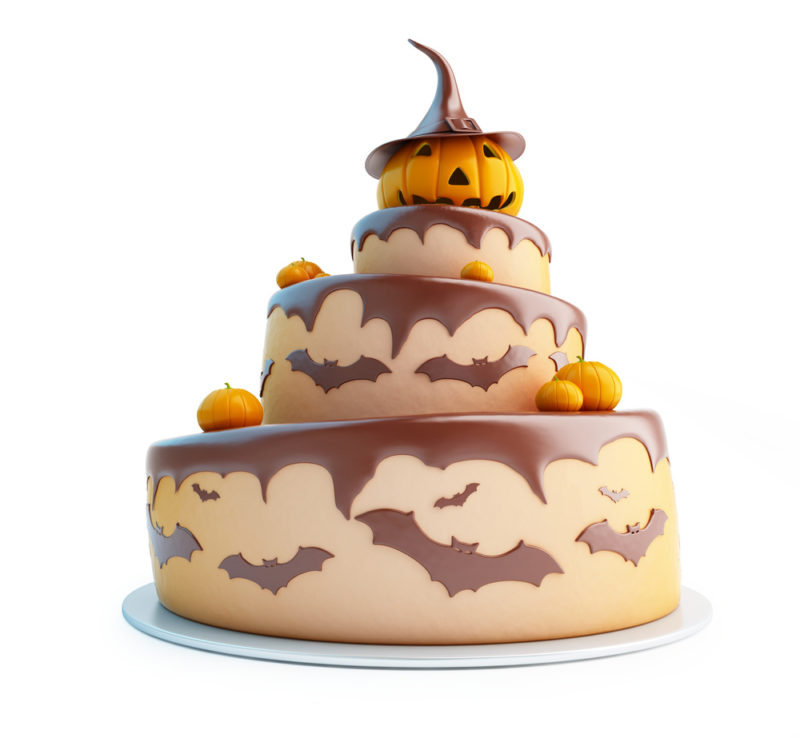 Halloween Wedding Cake
