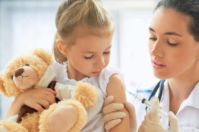 Child Receives Vaccine