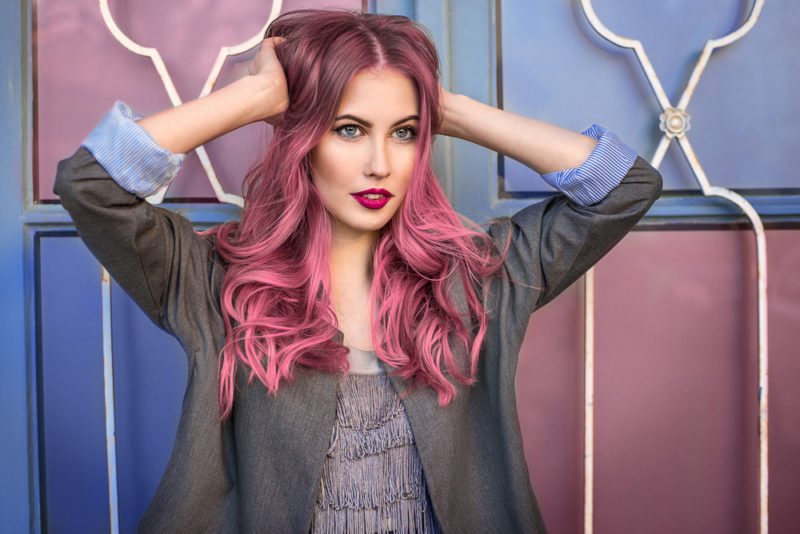 Colorful Hair for Fall Women