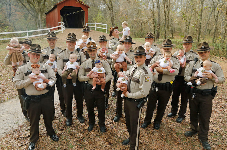 This Missouri Sheriff's Department Welcomed 17 (!!!) Babies This Year, and It's All Thanks to Paternity Leave