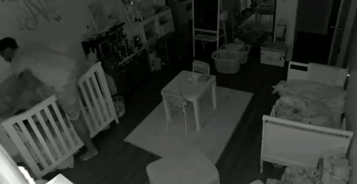 when a father's little girl desperately needed her daddy to fall asleep, he crawled into her crib and slept