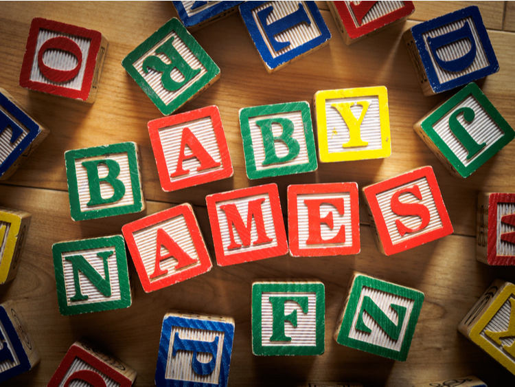 baby names of the decade