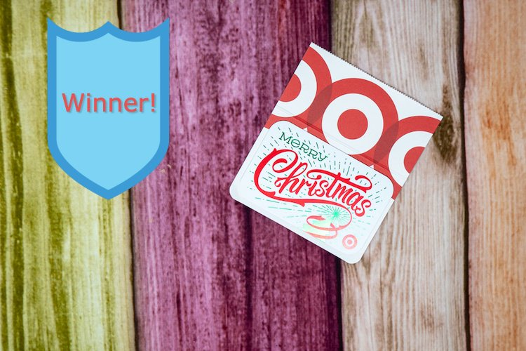 Announcing the $500 Target Gift Card Giveaway Winner!