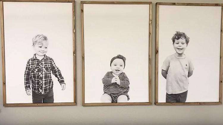 jessa duggar minimalist diy kid portraits