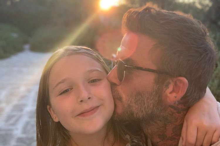 david beckham slammed by fans for kissing his 8-year-old daughter harper on the lips in instagram photo