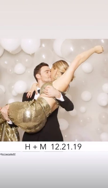 hilary duff and matthew koma wed in front of their children