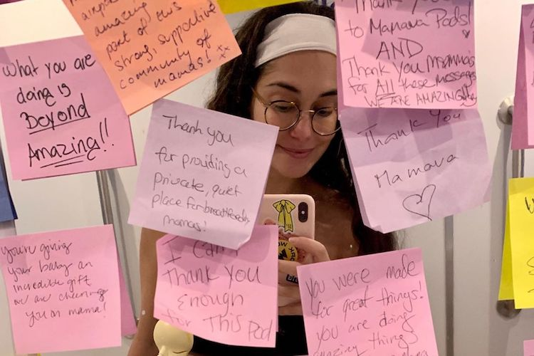 Audrey Gelman: Moms Cover Airport Lactation Rooms with Messages of Encouragement: 'What You Are Doing Is Beyond Amazing!'