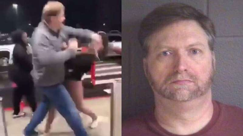david steven bell: people debate self-defense after video shows a 51-year-old man striking an 11-year-old girl outside a mall