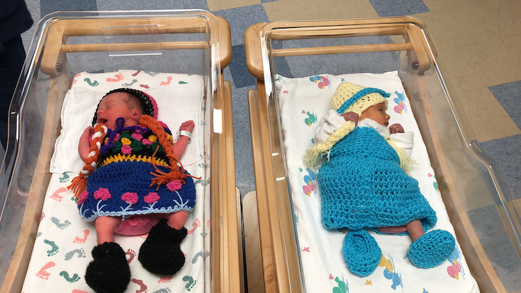 Newborns Dressed as Frozen Characters