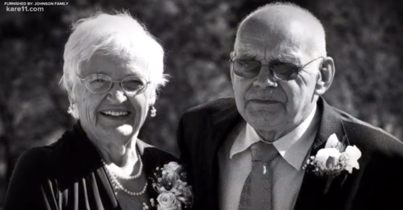 """corinne and robert """"bob"""" johnson: this couple married in 1951, remained together for more than 68 years, then died within 33 hours of each other"""