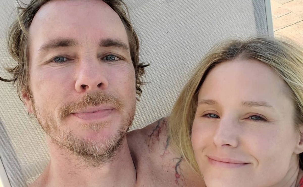 Kristen Bell Struggles to Keep a Straight Face While She Videotapes Herself Listening to Dax Shepard Teach Their Daughters About the Middle Finger